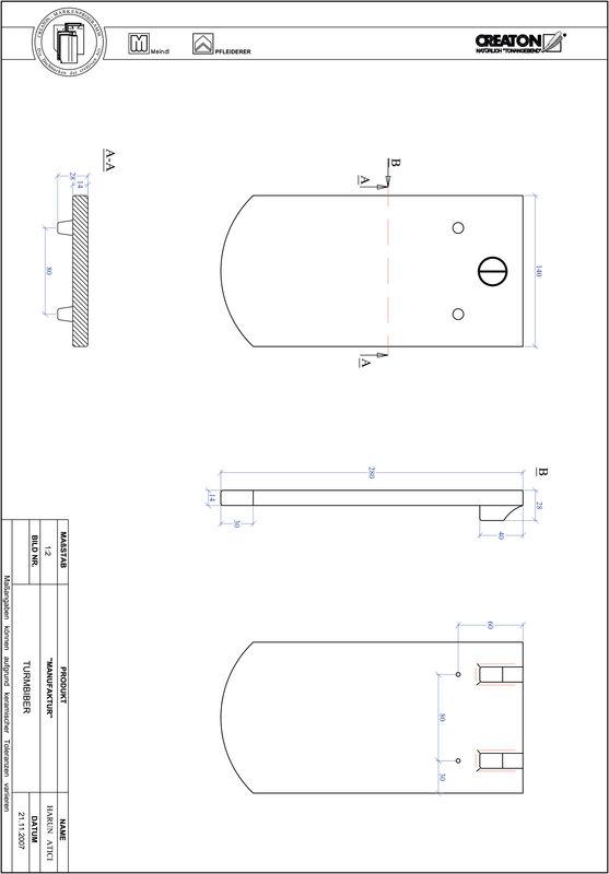 CAD datoteka izdelka MANUFAKTUR segmentna oblika TURMBIBER