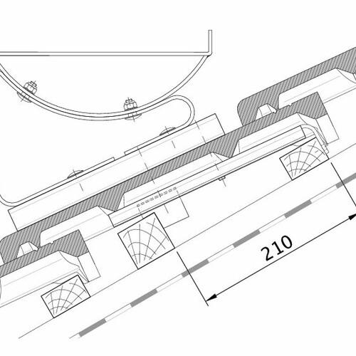 Tehnična skica izdelka HEIDELBERG FUK PROFILIERTE-BDS