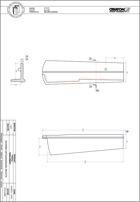 CAD datoteka izdelka PROFIL segmentna oblika KERA-SAECHS-18-CM-OGR