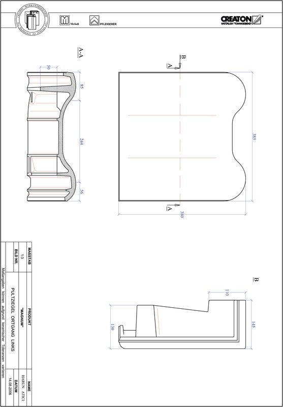 CAD datoteka izdelka MAGNUM strešnik za enokapno streho, krajnik levi PULTOGL