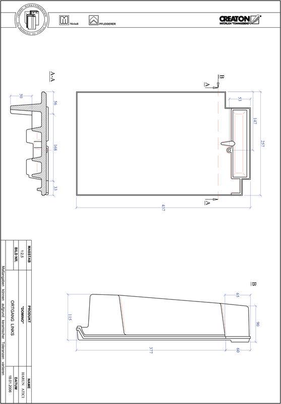 CAD datoteka izdelka DOMINO krajnik levi OGL