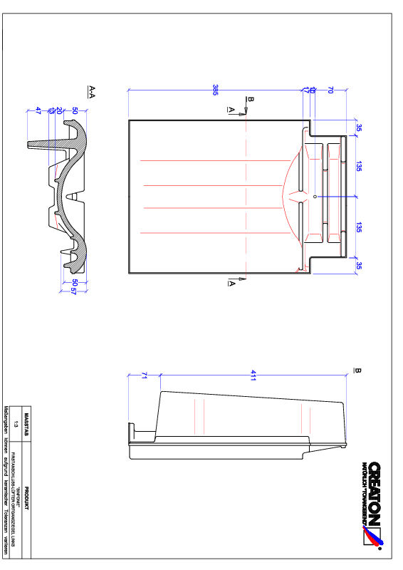 CAD datoteka izdelka SINFONIE slemenski priključni zračnik levi FALOGL