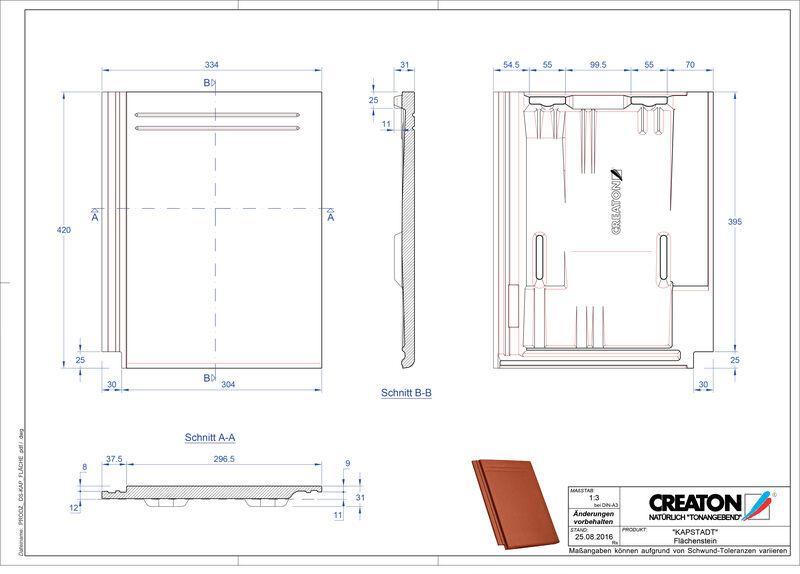 CAD datoteka izdelka KAPSTADT strešnik Faechenstein