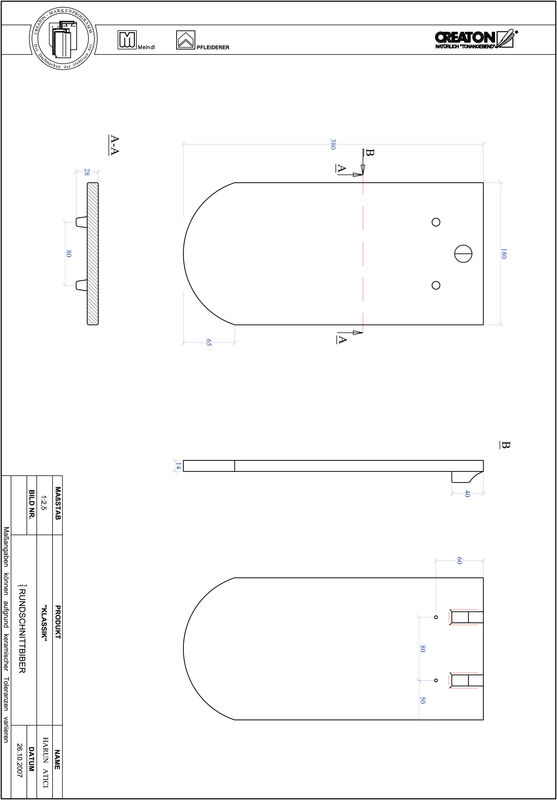 CAD datoteka izdelka KAPSTADT okrogla oblika RUND-1-1