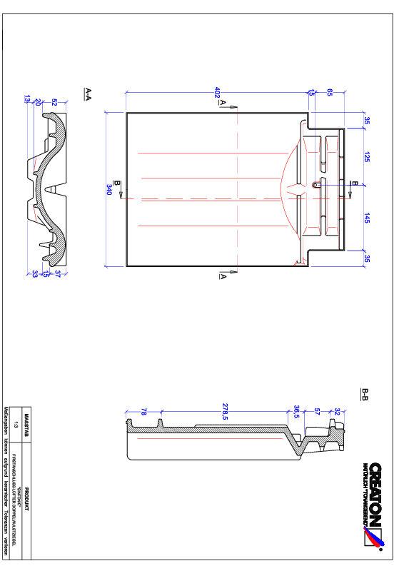 CAD datoteka izdelka SINFONIE slemenski priključni zračnik dvovalovnik FALDWZ
