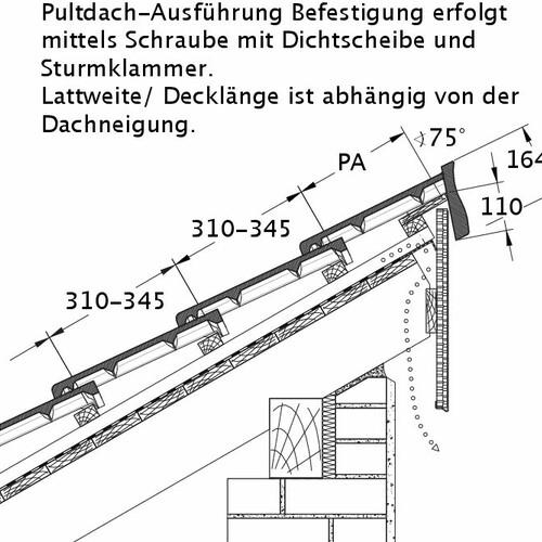 Tehnična skica izdelka HEIDELBERG PDA PROFILIERTE-BDS