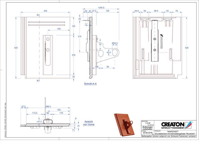 CAD datoteka izdelka KAPSTADT osnovni element Rundrohr