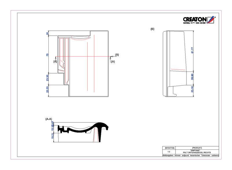 CAD datoteka izdelka SINFONIE  strešnik za enokapno streho, krajnik desni PULTOGR