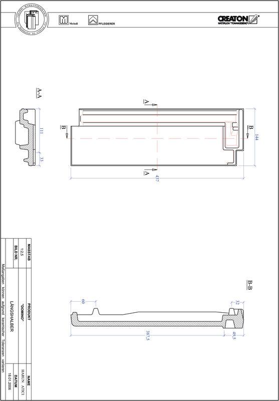 CAD datoteka izdelka DOMINO polovička LH