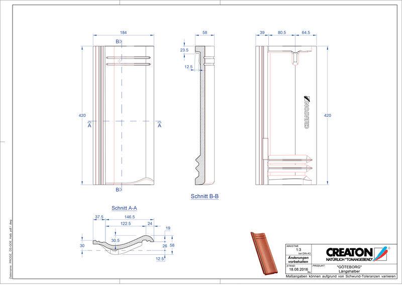 CAD datoteka izdelka GÖTEBORG polovička Laengshalber