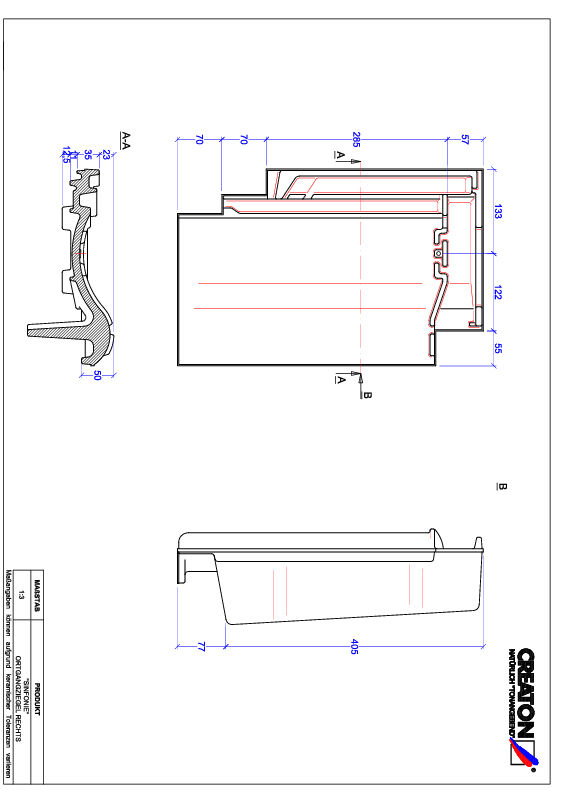 CAD datoteka izdelka SINFONIE krajnik desni OGR