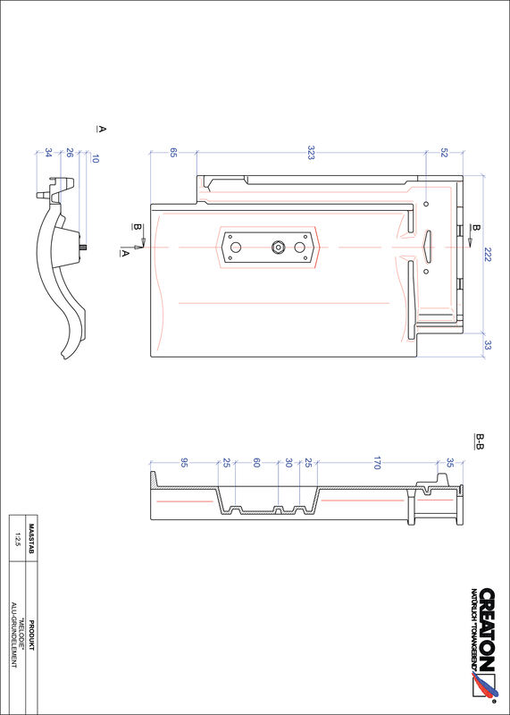 CAD datoteka izdelka MELODIE osnova, aluminij GRUNDALU