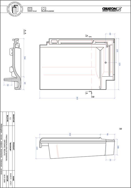 CAD datoteka izdelka MAGNUM slemenski priključni zračnik desni FALOGR