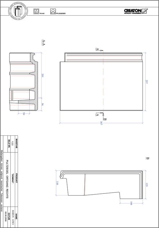 CAD datoteka izdelka DOMINO strešnik za enokapno streho, krajnik desni PULTOGR