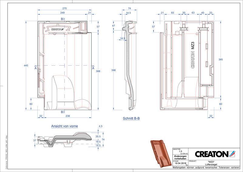 CAD datoteka izdelka MZ3 NEU slemenski zračnik LUEFTZ