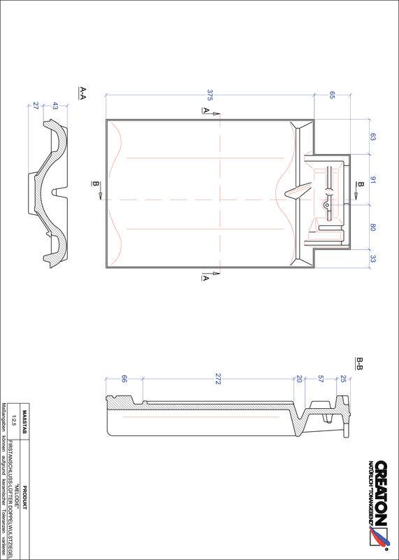 CAD datoteka izdelka MELODIE slemenski priključni zračnik dvovalovnik FALDWZ