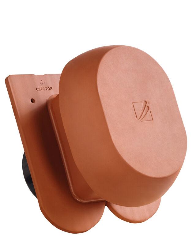 KLASSIK okroglo rezani SIGNUM keramični prezračevalnik DN 200 mm, vklj. adapter za povezavo pod streho