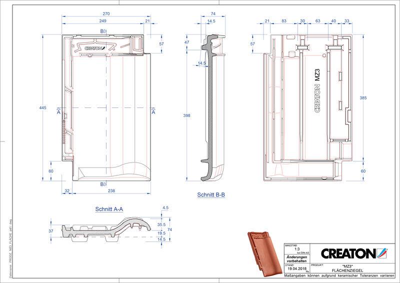 CAD datoteka izdelka MZ3 NEU strešnik FLA
