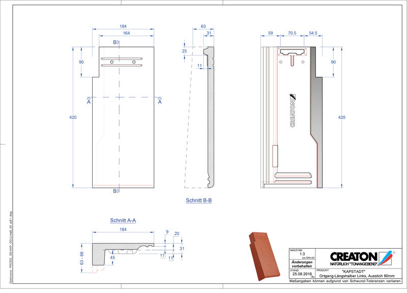CAD datoteka izdelka KAPSTADT krajnik levi OGL-halb-90