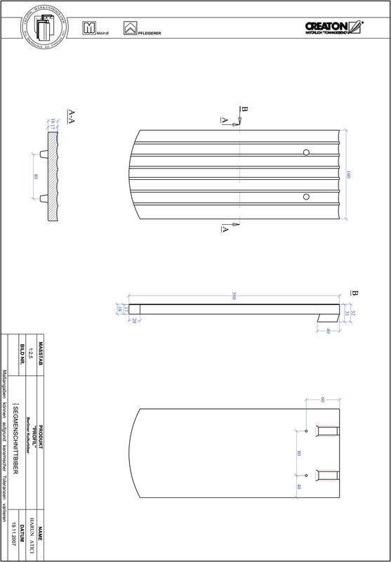 CAD datoteka izdelka PROFIL segmentna oblika BKBI-1-1