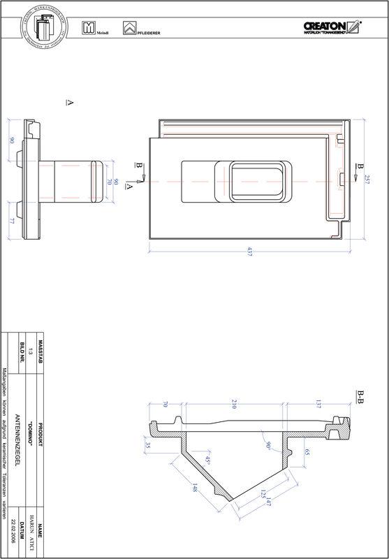 CAD datoteka izdelka DOMINO Aerial ANTENNE