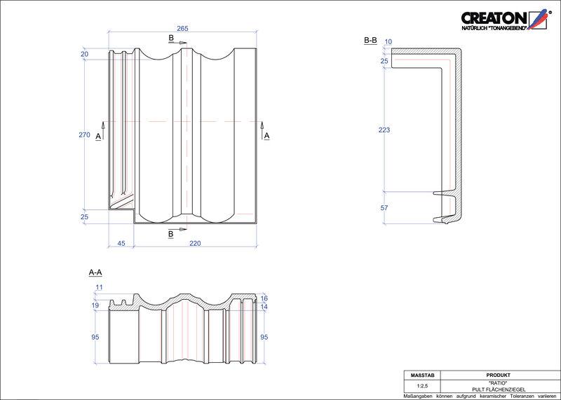 CAD datoteka izdelka RATIO strešnik za enokapno streho PULTFLA