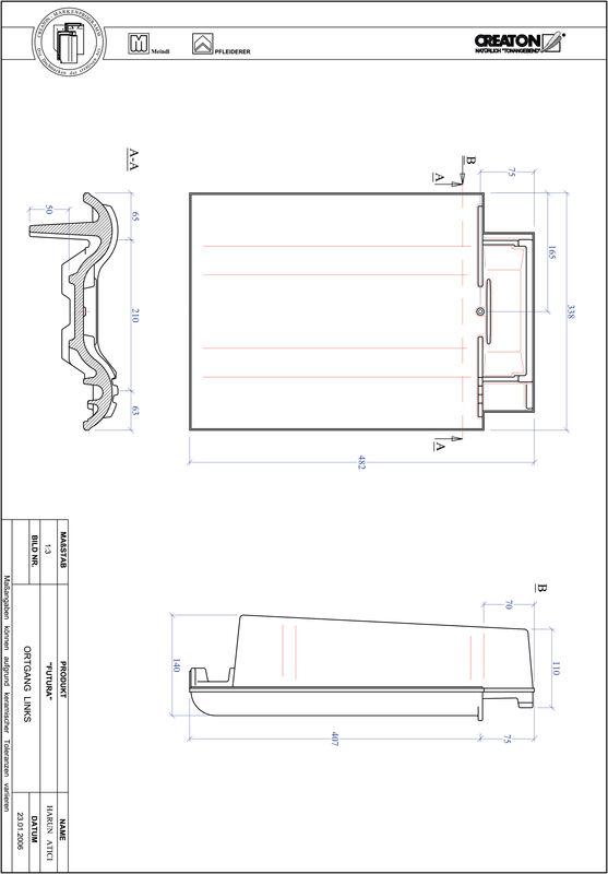 CAD datoteka izdelka FUTURA krajnik levi OGL