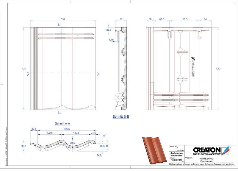 CAD datoteka izdelka GÖTEBORG strešnik Flaechenstein