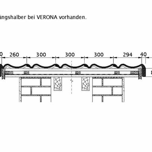 Tehnična skica izdelka VERONA ORL PROFILIERTE-BDS