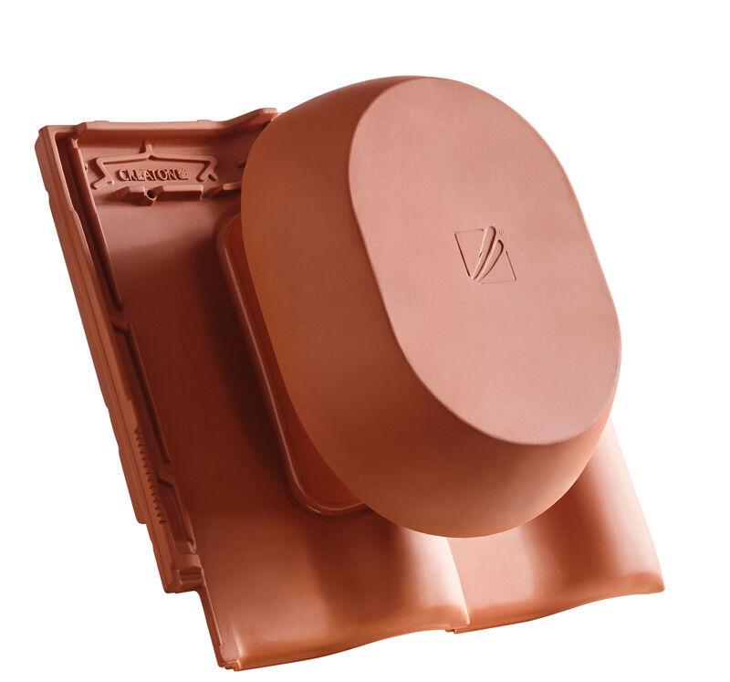 MZ3 SIGNUM okroglo rezani SIGNUM keramični prezračevalnik DN 200 mm, vklj. adapter za povezavo pod streho
