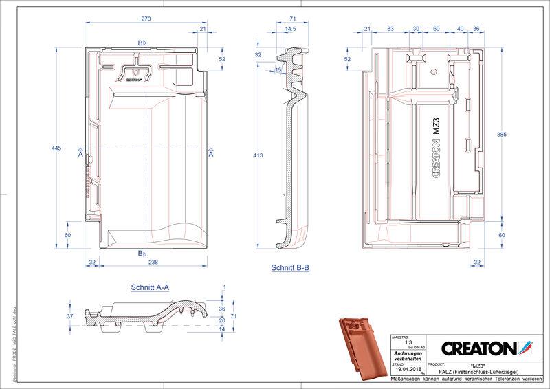 CAD datoteka izdelka MZ3 NEU  slemenski priključni zračnik FALZ