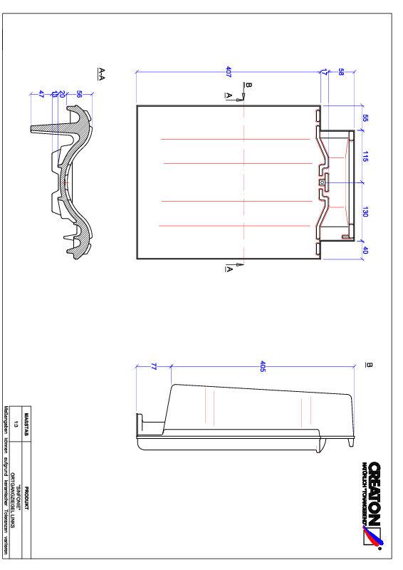 CAD datoteka izdelka SINFONIE krajnik levi OGL