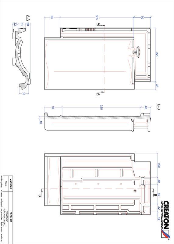 CAD datoteka izdelka MELODIE strešnik FLA
