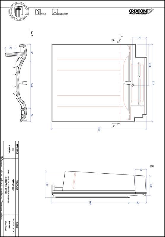 CAD datoteka izdelka MAGNUM slemenski priključni zračnik levi FALOGL