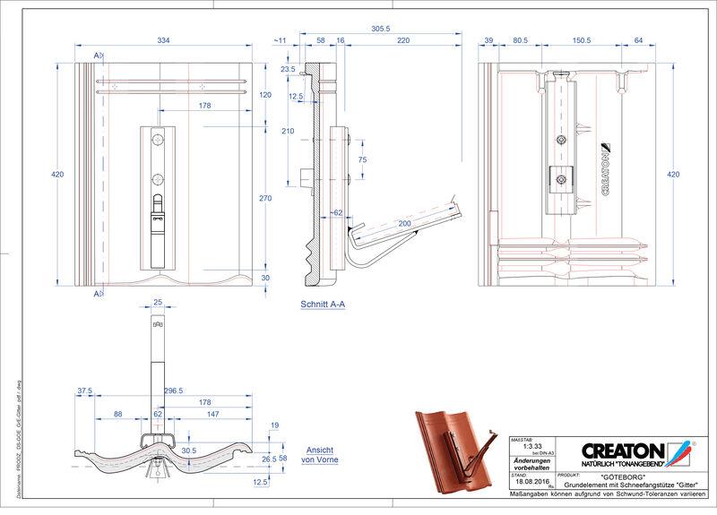 CAD datoteka izdelka GÖTEBORG osnova, aluminij Gitter