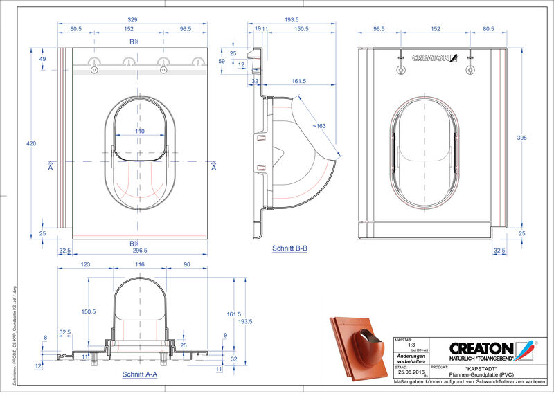 CAD datoteka izdelka KAPSTADT dodatki Grundplatte-PVC