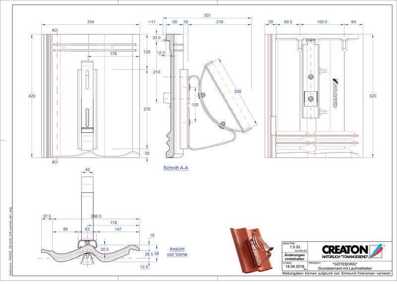 CAD datoteka izdelka GÖTEBORG osnova, aluminij Laufrost