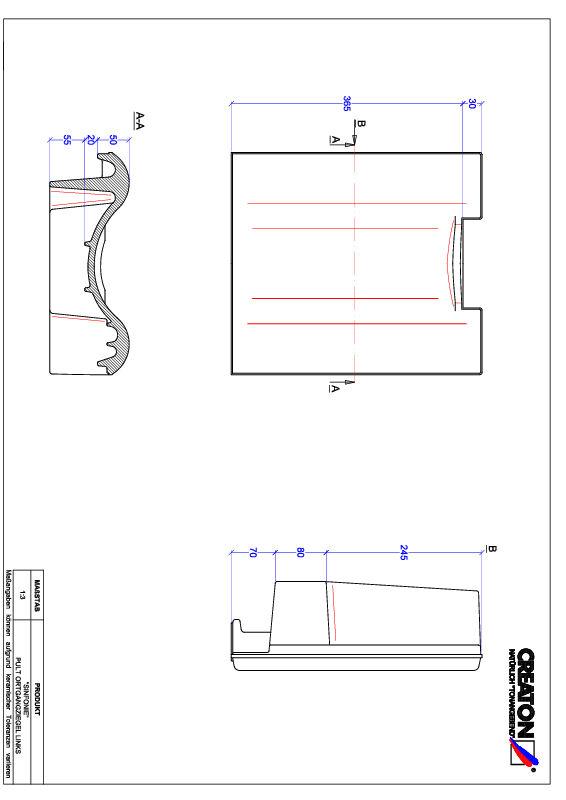 CAD datoteka izdelka SINFONIE  strešnik za enokapno streho, krajnik levi PULTOGL