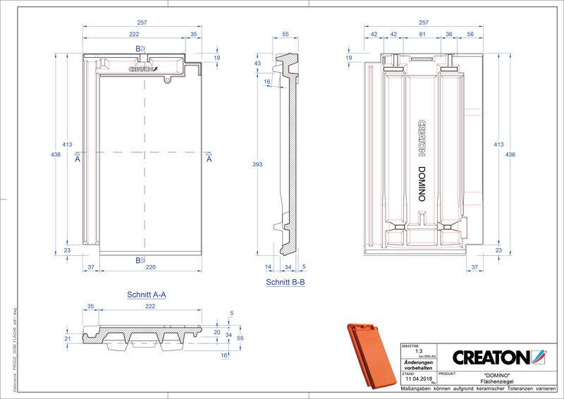CAD datoteka izdelka DOMINO strešnik FLA