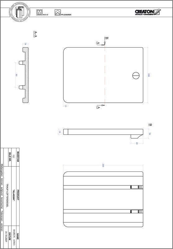 CAD datoteka izdelka KAPSTADT okrogla oblika RUND-TRAUF-LUEFTZ