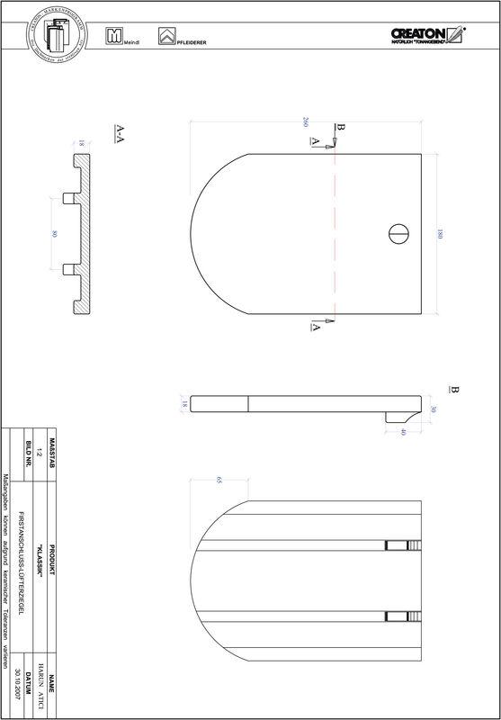 CAD datoteka izdelka KAPSTADT okrogla oblika RUND-FALZ