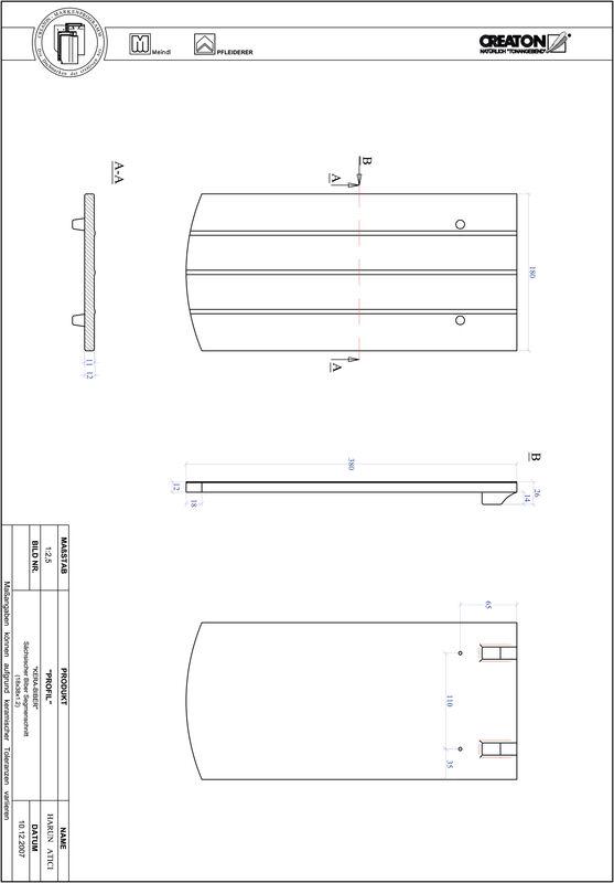 CAD datoteka izdelka PROFIL segmentna oblika KERA-SAECHS-18-CM-1-1