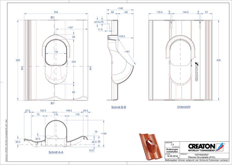 CAD datoteka izdelka GÖTEBORG Dodatki Grundplatte-PVC