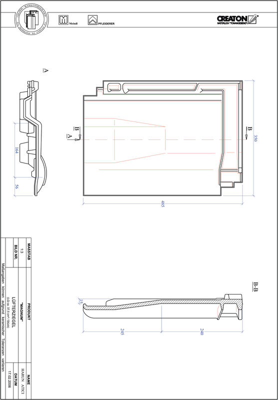 CAD datoteka izdelka MAGNUM slemenski zračnik LUEFTZ
