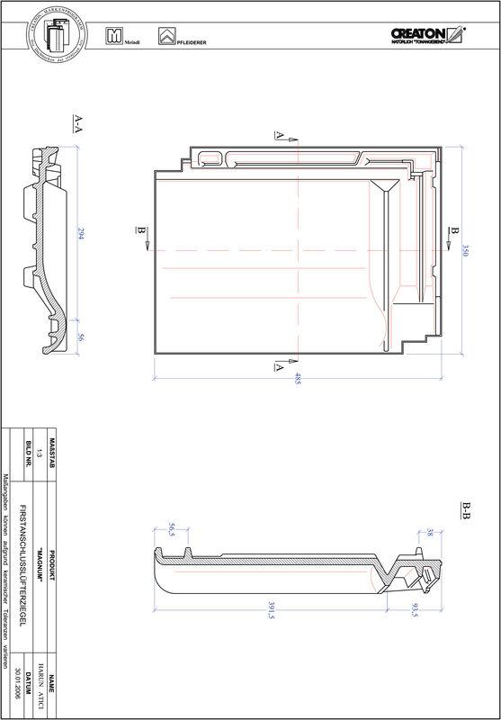 CAD datoteka izdelka MAGNUM slemenski priključni zračnik FALZ