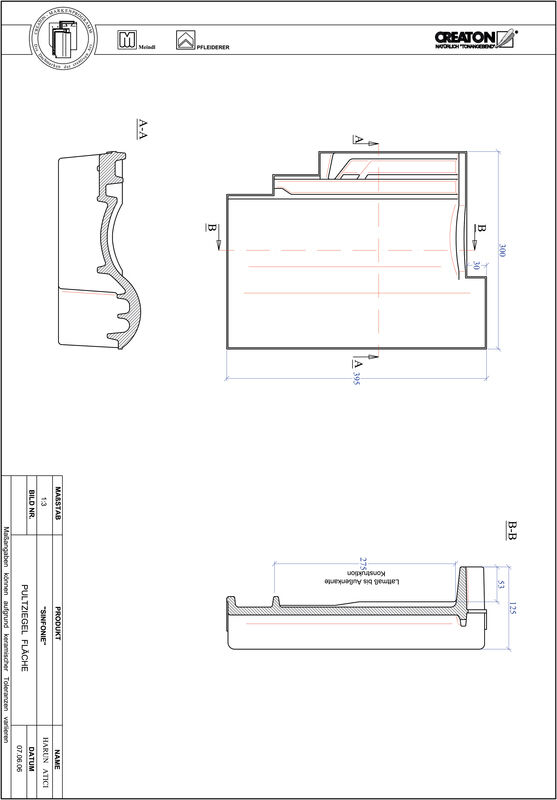 CAD datoteka izdelka SINFONIE strešnik za enokapno streho PULTFLA