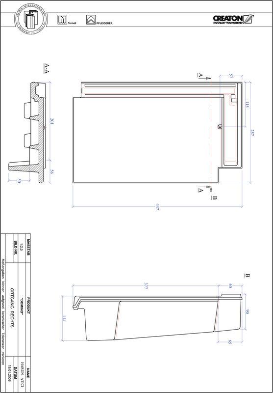 CAD datoteka izdelka DOMINO krajnik desni OGR