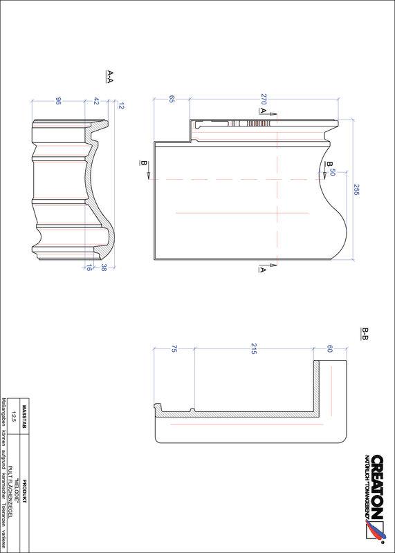 CAD datoteka izdelka MELODIE strešnik za enokapno streho PULTFLA