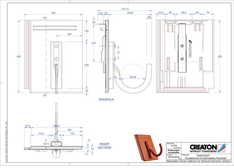 CAD datoteka izdelka KAPSTADT osnovni element Rundholz