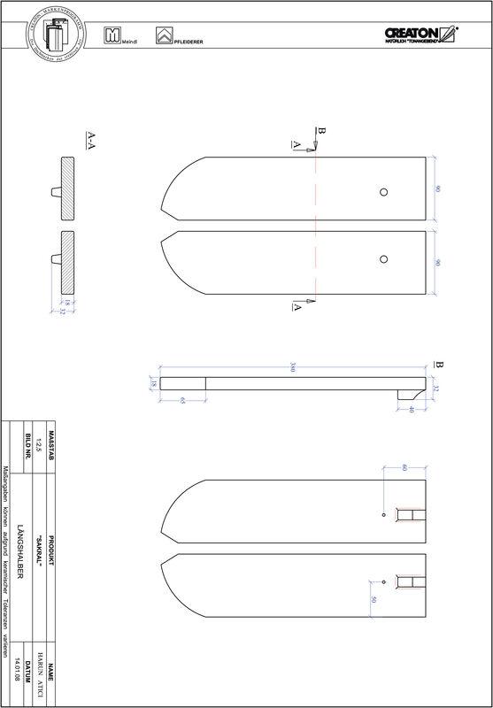 CAD datoteka izdelka SAKRAL okrogla oblika RUND-LH